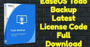 EaseUS Todo Backup Latest License Code Full Download