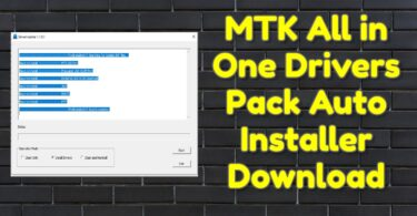 MTK All in One Drivers Pack Auto Installer Download