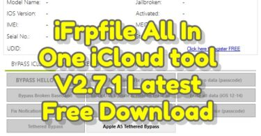 iFrpfile All In One iCloud tool V2.7.1 Latest Free Download