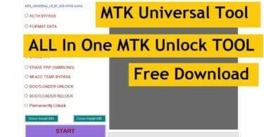 MTK Universal V5 New All in One MediaTek FRPPasswordAuth Bypass Tool